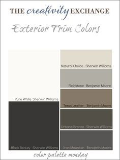 benjamin moore exterior combinations | Tips and Tricks for Choosing Exterior Trim Colors {Color Palette ...