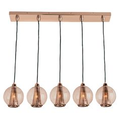 Featuring an array of glass orb shades, this sleek pendant is perfect for illuminating your kitchen island or billiards table.    Produ...