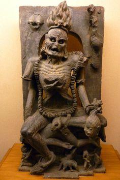 november-d00m: Goddess Chamunda, figurine found in Jajpur, dated...