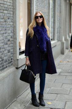 blue #fur. #fashion #winterwear    .