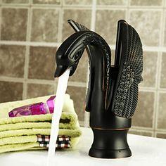 Bionics Design Centerset Bathroom Sink Faucet Oil-rubbed (Black)/ Antique (Gold) – USD $ 119.99