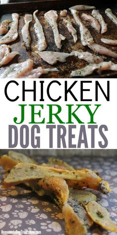 pet treats recipes Healthy is part of Pet Treat Recipes Allrecipes Com - Dogs LOVE these homemade Chicken Jerky Dog Treats and they only take a few ingredients to make! Homemade Jerky, Homemade Dog Cookies, Homemade Dog Food, Easy Dog Treat Recipes, Healthy Dog Treats, Pet Treats, Dog Biscuit Recipes, Dog Food Recipes, Dog Cookie Recipes