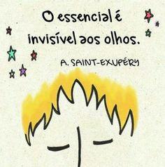 O essencial é invisível aos olhos. A.Saint-Exupéry