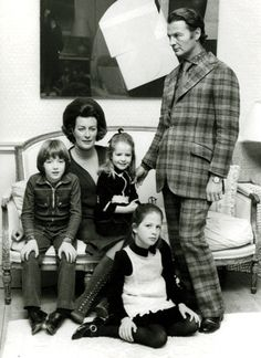The Hicks family - David, Pamela, Ashley, Edwina and India Hicks - extra points for that fine plaid suit...
