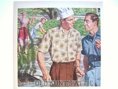 Arrow Sports Shirts Advertisement Ads Cookout by OldAuntsAttic, $12.00
