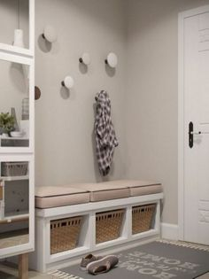 Stylish Apartment Redesign in Minsk – Kallax Ideas 2020 Gray Interior, Interior Design, Flur Design, Diy Design, Design Ideas, Design Case, Small Apartments, Porch Decorating, Mudroom