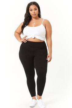 fb4f4c152a90f Plus Size High-Waist Leggings #plussizemodel
