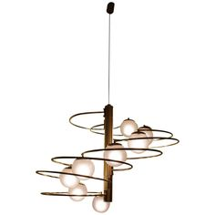 Pendant Lamp Model 1050 by Giannino Crippa for Lumi, circa 1970 | From a unique collection of antique and modern chandeliers and pendants at https://www.1stdibs.com/furniture/lighting/chandeliers-pendant-lights/