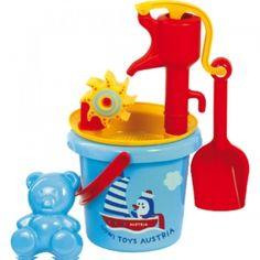 Sand Set Pumpe Gowi für Kinder Pumps, Party Gifts, Toothbrush Holder, Girl Birthday, Bucket, Toys, Strand, Products, Sandbox