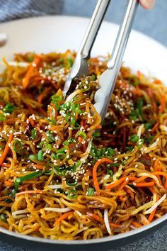 These pan-fried noodles make an incredible midnight snack. For a quick dinner, serve these easy noodles with your favorite protein (like tofu, chicken, or a fried or poached egg) and veggies to create a hearty meal that comes together in no time. Vegetable Noodles, Vegetable Recipes, Vegetarian Recipes, Vegetable Dish, Cooking Recipes, Healthy Recipes, Yakisoba Recipe, Recipes With Yakisoba Noodles, Stir Fry Yakisoba Noodles
