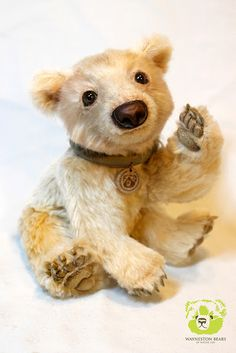 Cheese Steak by Wayneston Bears #teddy bear #realistic teddy bear #artist bear #bearartist #waynestonstudios #waynestonbears