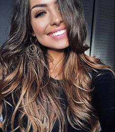 Hair: color and cut Balayage Hair, Ombre Hair, Brunette Ombre Balayage, Haircolor, Hair Color And Cut, Hair Affair, Brunette Hair, Great Hair, Gorgeous Hair