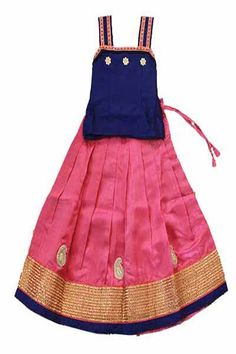 Kids girls Trendy and traditional pattu pavadai / pavada for 10 - 11 years  - Rs 1100 - Free shipping all over India -   http://www.princenprincess.in/index.php/home/product/225/Pink%20and%20blue%20pavadai