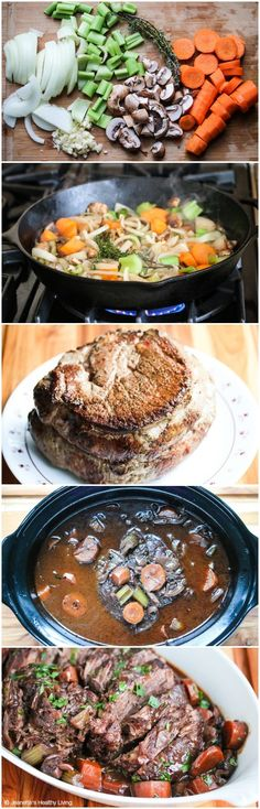 Slow Cooker Red Wine Pot Roast - this is the only pot roast I make for my family - it's comfort food at its best: