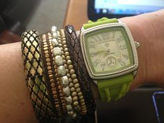 Love the pop of color this @Judith Ripka watch adds to @Whitney Wingerd - Mommies with Style look