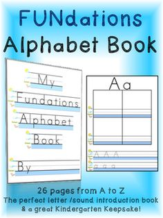 This NO PREP Wilson Fundations Inspired Alphabet Book / ABC Letter Writing Book is great for letter/ sound introduction and handwriting practice. Simply print out and staple into a book for each student! Package includes your choice of 8 covers along with 26 letter pages. This makes for a great Kindergarten Keepsake!