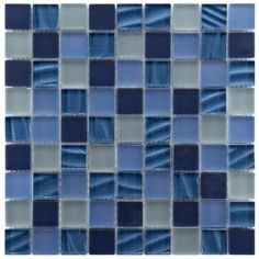 @Overstock - This tile by Somertile features a mixture of matte frosted blues and reflective smooth blue ripple pearl glass tiles. This tile's elegance will add a bit of sparkle to any room.http://www.overstock.com/Home-Garden/Somertile-Maritime-Abalone-Glass-Mosaic-Wall-Tiles-Pack-of-10/6143535/product.html?CID=214117 $149.95