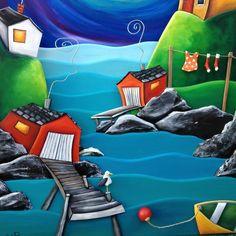 Newfoundland, House Painting, Goat, Folk Art, Whimsical, Art Ideas, Gallery, Outdoor Decor, Travel