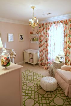 Project Nursery - Pink and Green Garden Inspired Nursery - Project Nursery