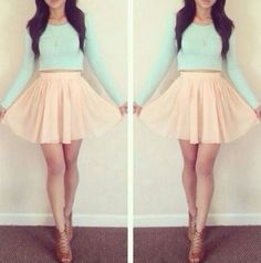 "What I love about my long legs is you can wear ""long"" skirts and look amazing cause the legs are never ending"