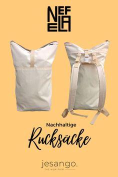 Besuche jesango.de und entdecke praktische, nachhaltige Rucksäcke! Zeitloses Design, multifunktionsfähig und fair und nachhaltig produziert. Das sind die drei Komponenten, die diesen Rucksack besonders machen. Vladi, der Gründer von Nefela-Bags brachte sich das Taschen machen selbst bei und machte es sich zur Aufgabe lokal und langlebig zu produzieren. #fairfashion #jesango #onlineshop #nachhaltig #fairemode #fairerrucksack #rucksack #fashioninspiration #style Lokal, Beige, Sustainability, Bags, Cotton, Ash Beige