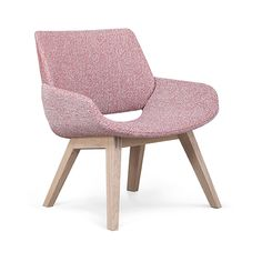 chair | lounge chair | dining chair | pink chair | wood chair | lobby | hotel | restaurant | lounge | living room | design | interior design | commercial design | modern | contemporary | Scandinavian | sleek | sophisticated | simple