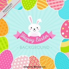 Flat Easter Background Free Vector