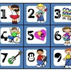 Display these rock star calendar numbers on your classroom calendar....