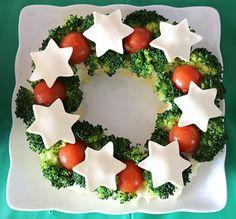 クリスマスリースのポテトサラダ クリスマスパーティー料理 キッズパーティー演出