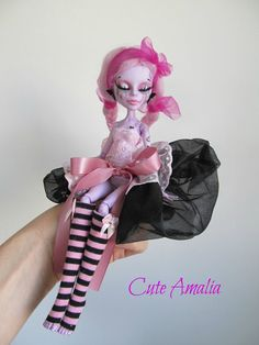 RESERVED BLANCA  Monster high doll  repaint by cuteamaliadolls, $93.00