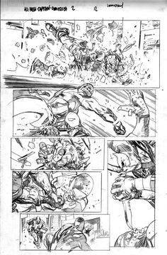All-New Cap. America #2 p12 pencils