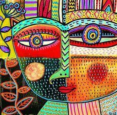 Talavera Owl Goddess ~ Sandra Silberzweig