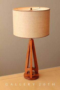 SWEET! MID CENTURY MODERN ROCKET HANSEN TABLE LAMP! 50's Danish Eames Atomic Vtg #HansenStudios