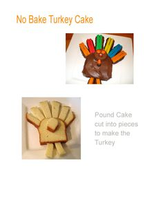 Thanksgiving No Bake Turkey Cake repinned by @PediaStaff – Please visit ht.ly/63sNt for all (hundreds of) our pediatric therapy pins