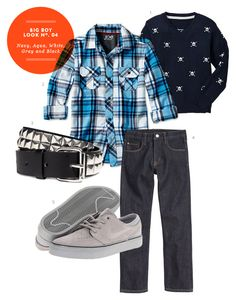 Preteen Boy Outfit: Big Boy Inspiration Board #04: Navy, Aqua, White, Gray and Black Outfit from The Kids' Dept.
