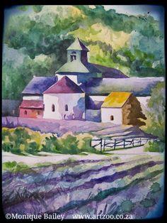 Watercolours on paper  © Monique Piscaer Bailey    www.artzoo.co.za