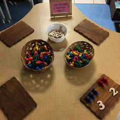 Looking forward to seeing what math/number stories our learners create this week. #math #provocation #kindergarten #learning #thinking #fdk #reggioinspired #looseparts #numeracy #addition #numberstory #additionstory