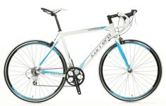 Carrera Virtuoso Road Bike is full of techie goodness that will get your first to that finish line.