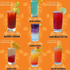 Bottoms Up at Sunscape Sabor Cozumel! Which of our Cocktails of the Day will you try first?