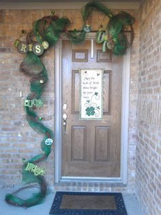 St Patty The Leprechaunone Of My St Patricks Day Wreaths From - Best diy st patricks day decorations ideas