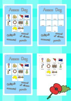 Anzac day vocabulary poster