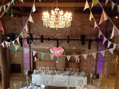 Bunting ceiling drape