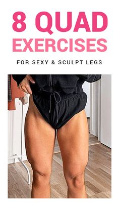 My quad workouts will spice up your leg day routine. They are the 8 best quad exercises for women. Try out these leg workouts at home to tone your legs. Quad Workouts At Home, Leg Workout At Home, Leg Day Workouts, Fit Board Workouts, Easy Workouts, Leg Day Routine, Quad Muscles, Quad Exercises, 30 Day Fitness