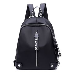 $42.04 - Awesome New 2017 Ribbon Nylon Oxford Backpack Female Colorful Letters Travel Backpacks for Women Casual Canvas Waterproof School Bag - Buy it Now!