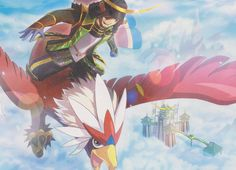 Masamune on Braviary, Pokemon Conquest.