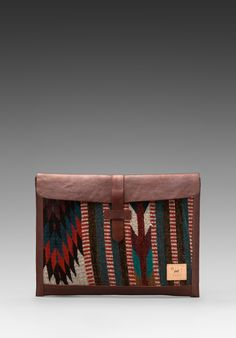 Lusting!! WILL LEATHER GOODS Oaxacan Laptop Sleeve in Cognac - New