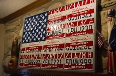 great use of old license plates -
