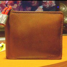 Coach Wallet. 3mm Glocord, 1/2 Al Ferrule.  Gunstock Oil & Beeswax