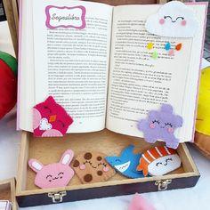Some of my corner bookmarks! My favourite is the cloud ☁ #reading #books #felt #etsy #etsyseller #food #cookies #shark #owl #bookmark #clouds #rainbow #segnalibro #sewing #handsew #etsyshop #handmade #sushi #nigiri #rabbit #fieltro #craftfair #stall #puzzle #lanatema #pannolenci #craft #foodlove #cornerbookmark