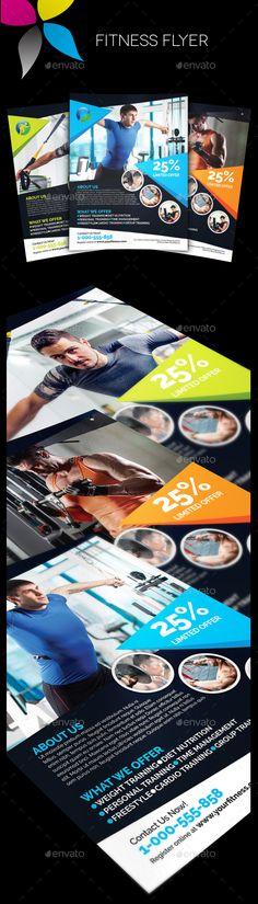 Fitness Flyer Template PSD #design Download: http://graphicriver.net/item/fitness-flyer/13503757?ref=ksioks